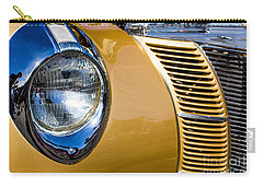 Blue Light On Gold Car Carry-all Pouch