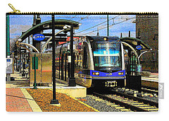 Carry-all Pouch featuring the photograph Blue Line by Rodney Lee Williams