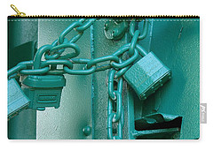 Carry-all Pouch featuring the photograph Blue Locks by Rodney Lee Williams