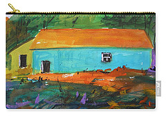 Carry-all Pouch featuring the painting Blue Long Barn by John Williams