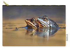 Blue Love ... Mating Moor Frogs  Carry-all Pouch