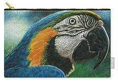 Blue Macaw Carry-all Pouch by Sandra LaFaut