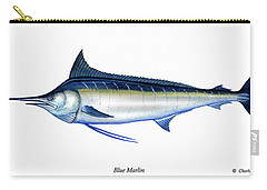Blue Marlin Carry-all Pouch by Charles Harden