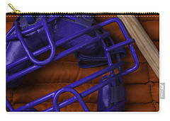 Blue Mask With Bat And Ball Carry-all Pouch