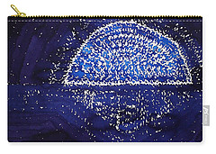 Blue Moonrise Original Painting Carry-all Pouch