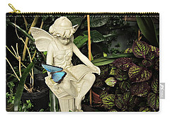 Blue Morpho On Statue Carry-all Pouch