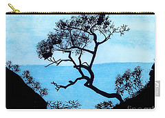 Carry-all Pouch featuring the drawing Blue Mountain by D Hackett