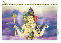 Carry-all Pouch featuring the photograph Blue-neck Kuan Yin by Lanjee Chee