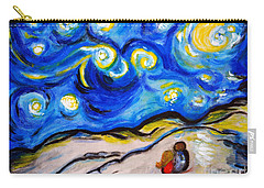 Carry-all Pouch featuring the painting Blue Night by Ramona Matei