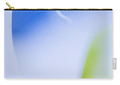Carry-all Pouch featuring the photograph Blue Orchid Abstract by Bradley R Youngberg