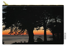 Blue Pacific At Sunset Carry-all Pouch by E Faithe Lester