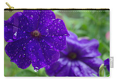 Blue Pansies After A Rain Carry-all Pouch