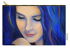 Blue Pensive Carry-all Pouch