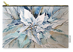 Blue Poinsettia Carry-all Pouch