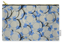 Blue Poker Chip Background Carry-all Pouch