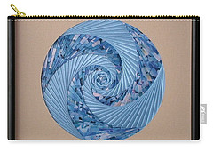 Carry-all Pouch featuring the mixed media Blue Pool by Ron Davidson