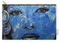 Blue Pop Marilyn Carry-all Pouch