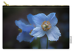 Blue Poppy Carry-all Pouch by Jacqui Boonstra