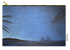Carry-all Pouch featuring the drawing Blue Pyramid by Mayhem Mediums