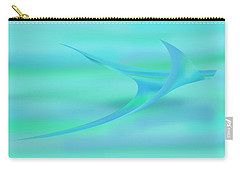 Blue Ray Carry-all Pouch by Stephanie Grant