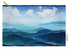 Blue Ridge Blue Skyline Sheep Cloud Carry-all Pouch