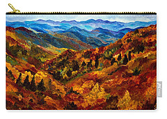 Blue Ridge Mountains In Fall II Carry-all Pouch by Julie Brugh Riffey