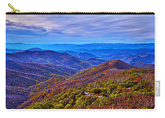 Carry-all Pouch featuring the photograph Blue Ridge Parkway by Alex Grichenko