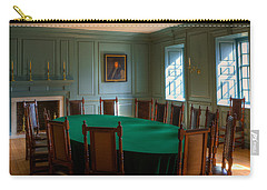 Carry-all Pouch featuring the photograph Blue Room 2 Wren Building by Jerry Gammon