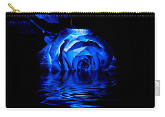Blue Rose Carry-all Pouch by Doug Long