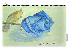 Blue Rose Carry-all Pouch by Pamela  Meredith