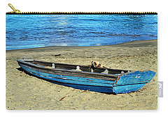 Blue Rowboat Carry-all Pouch by Holly Blunkall