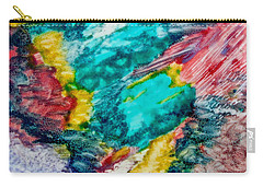 Carry-all Pouch featuring the painting Blue Rush by Joan Reese
