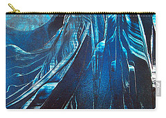 Blue Satin Carry-all Pouch