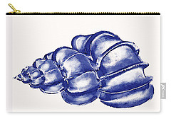 Carry-all Pouch featuring the digital art Blue Shell by Jane Schnetlage