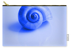 Blue Shell Carry-all Pouch by Oksana Semenchenko