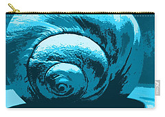 Blue Shell - Sea - Ocean Carry-all Pouch by Susan Carella