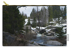 Carry-all Pouch featuring the photograph Blue Skies Of Winter by Bobbee Rickard