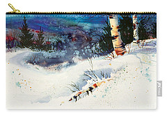 Blue Sky Birch Carry-all Pouch by Teresa Ascone