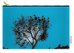 Carry-all Pouch featuring the drawing Blue Sky Moon by D Hackett