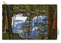 Carry-all Pouch featuring the photograph Blue Sky Reflecting by Jeremy Rhoades