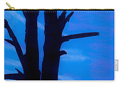 Carry-all Pouch featuring the drawing Blue Sky Tree by D Hackett