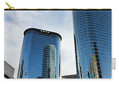 Blue Skyscrapers Carry-all Pouch by Judy Vincent