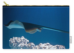 Carry-all Pouch featuring the photograph Blue Spotted Fantail Ray by Eti Reid