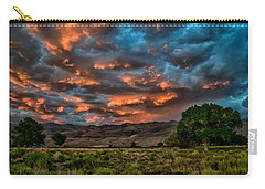 Blue Sunset Carry-all Pouch by Cat Connor