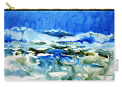 Blue Surf Carry-all Pouch by Joan Hartenstein