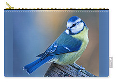 Blue Tit Looking Behind Carry-all Pouch