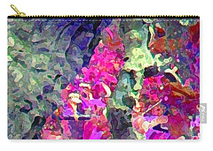 Carry-all Pouch featuring the photograph Blue Tree Pink Leaves by Stephanie Grant