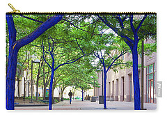 Blue Tree Walkway Carry-all Pouch by Mary Lee Dereske