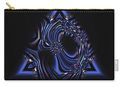 Blue Triangle Jewel Abstract Carry-all Pouch
