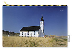 Carry-all Pouch featuring the photograph Blue Trim Church by Fran Riley
